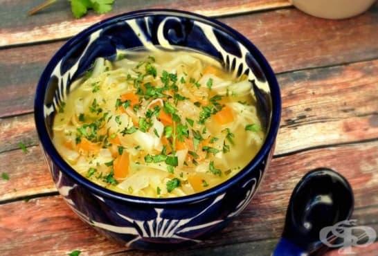 Зелева супа с моркови и кориандър - изображение