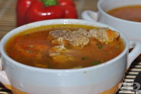 Свинска супа с ориз - изображение