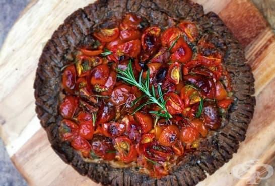 Пълнозърнест тарт с домати и леща - изображение