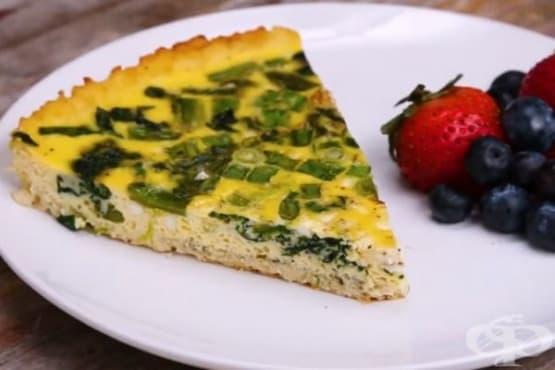 Зеленчуков тарт с блат от карфиол - изображение