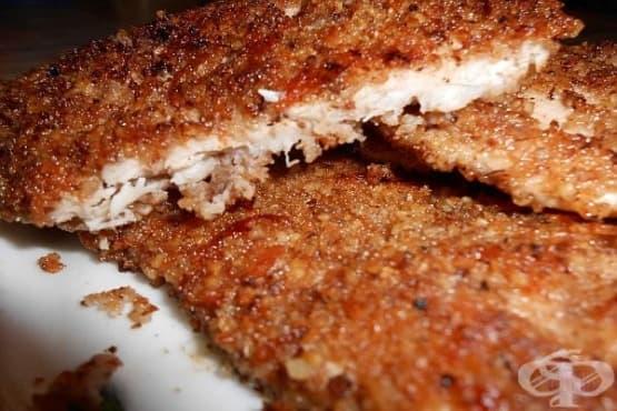 Телешки пържоли с мед и орехи - изображение