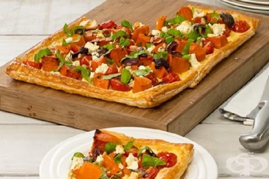Вегетариански тарт с тиква - изображение