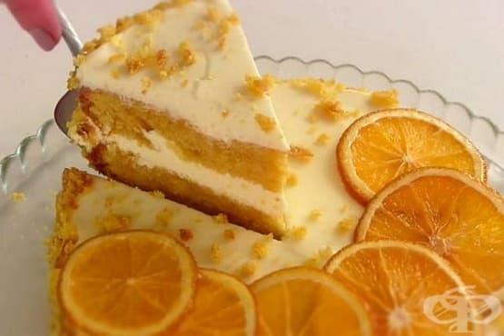 Тиквена торта с портокалово-сметанов крем - изображение