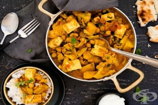 Зеленчуково къри с нахут и тиква - изображение