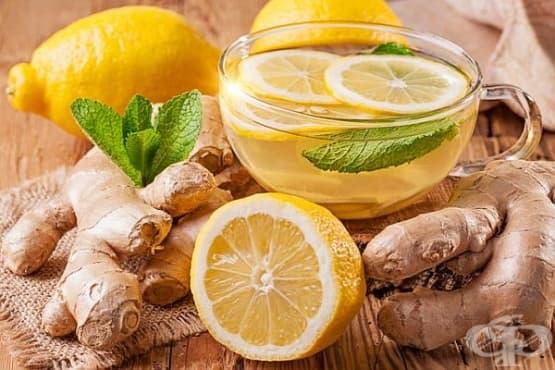 Тонизираща джинджифилова напитка с мента и лимон - изображение