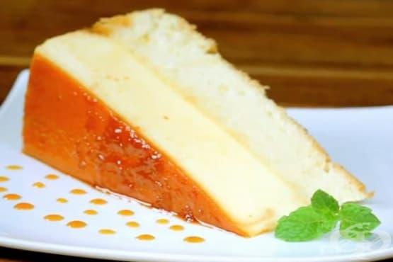 Торта от крем карамел и пухкав блат - изображение