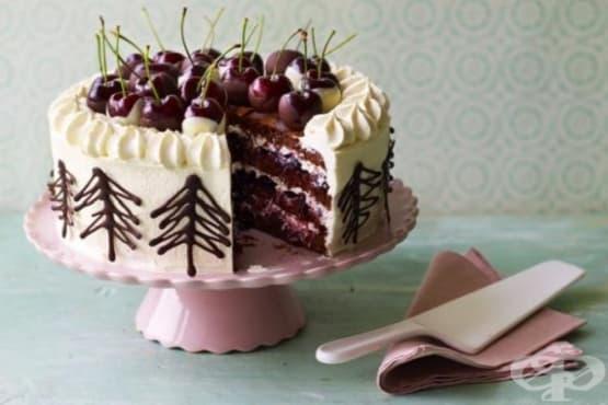 Торта с череши и шоколад - изображение
