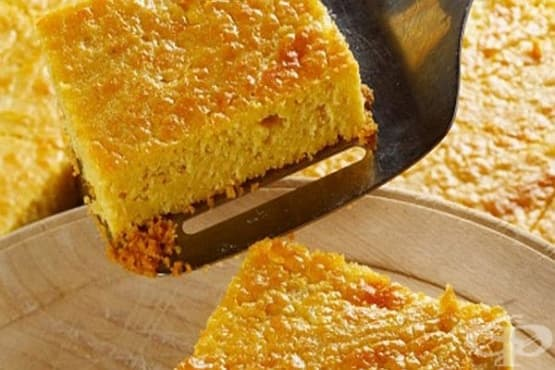 Царевичен сладкиш с прясно мляко и ананас - изображение