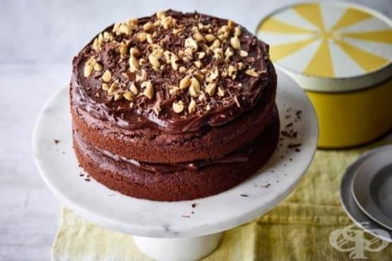 Шоколадова торта без животински продукти - изображение