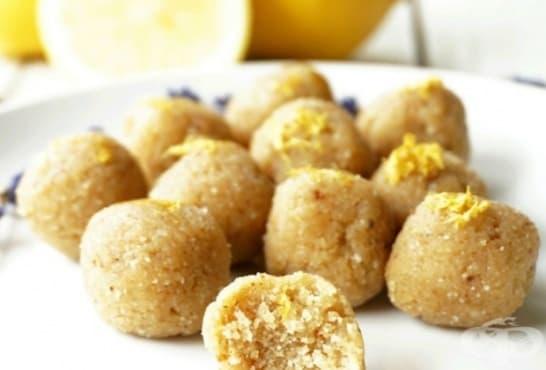Веган топченца с лимонови корички и лавандула - изображение