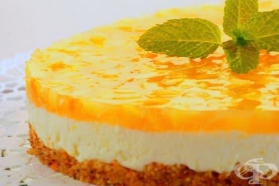Ябълков чийзкейк с желе - изображение
