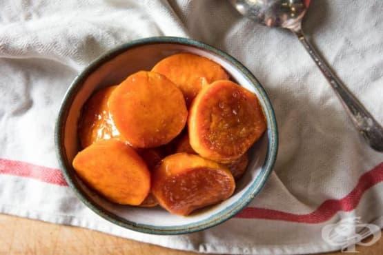 Захаросани сладки картофи батати - изображение