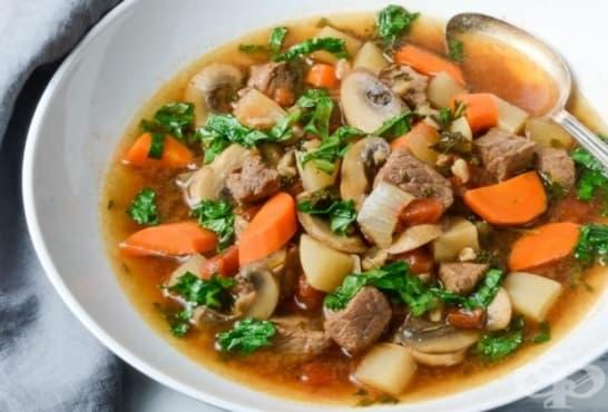 Здравословна телешка супа с кейл и зеленчуци - изображение