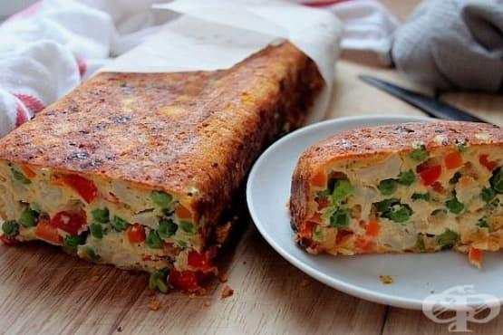 Запеканка от зеленчуци с яйца и кашкавал - изображение