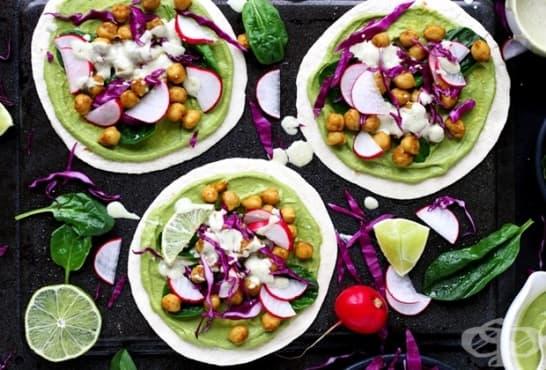 Такос със зеленчуци и нахут - изображение