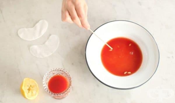 Заличете тъмните кръгове и подпухването под очите с доматен и лимонов сок  - изображение