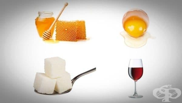 Направете си освежаваща маска за лице от мед, белтък, захар и червено вино - изображение