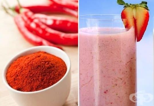 Направете си антиоксидантна напитка от авокадо, ягоди и лют червен пипер - изображение