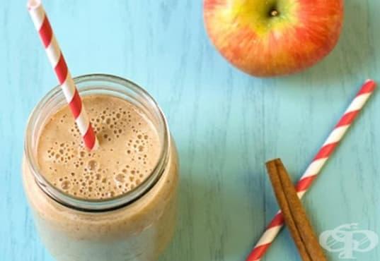 Пийте ефикасна напитка за отслабване от ябълка, банан и ленено семе   - изображение