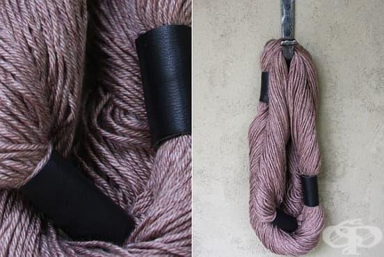 Как да си направите шал от прежда без умения за плетене - изображение