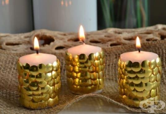 Направете си празнична свещ с кабарчета   - изображение