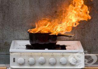 Ако гасите огън вкъщи, сложете на лицето си влажна кърпа - изображение