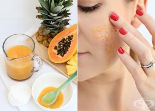 Възстановете кожата с маска от ананас и папая - изображение