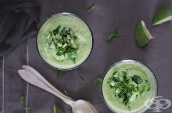 Отървете се от излишните килограми със супа от краставици и авокадо - изображение