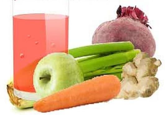 Пречистете черния дроб с напитка от цвекло, ябълка, моркови, целина и джинджифил    - изображение