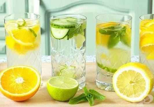 Направете си детоксикираща вода от мента, лимон и портокал - изображение