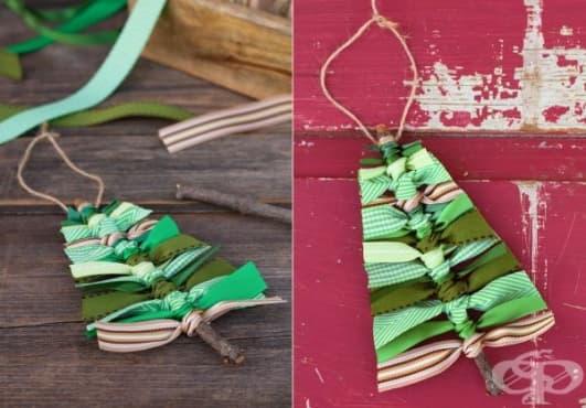 Направете си екологична коледна елха от панделки   - изображение