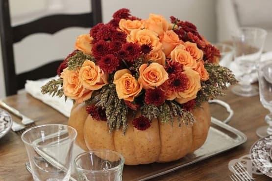 Направете си екологична есенна ваза от тиква  - изображение