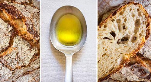 Филийка с олио или зехтин сутрин на гладно срещу гастрит - изображение