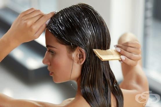 Маска с желатин за силна и блестяща коса - изображение