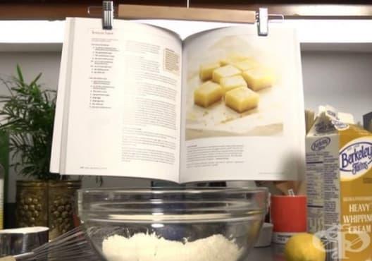Използвайте закачалка, за да запазите готварската книга непокътната - изображение