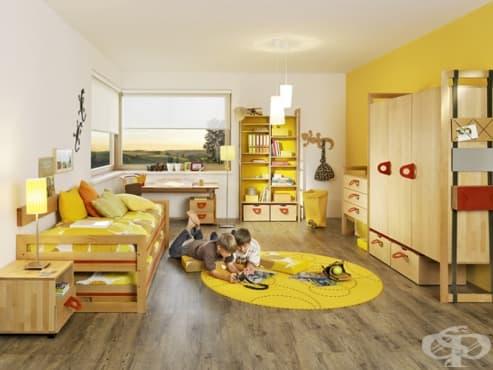 За да стимулирате умствената дейност на детето, включете жълто в интериора на стаята му - изображение