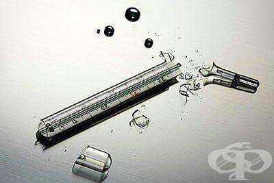 Как да действаме и какво не бива да правим, ако счупим живачен термометър? - изображение