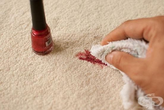 Как да премахнем петното от лак по дрехата? - изображение