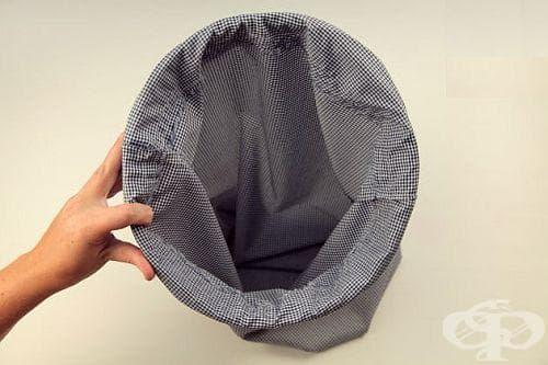 Как да си направим кош за пране от рециклирани материали? - изображение