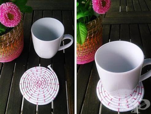 Как да си направим красиви подложки за чаши? - изображение