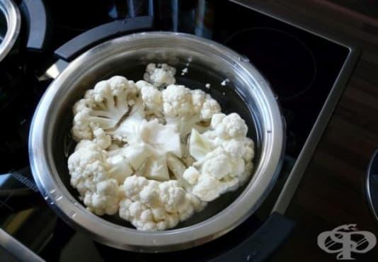 Предотвратете оцветяването на карфиола с мляко и сол - изображение