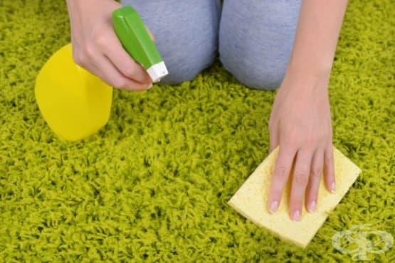 Премахнете петната от килима с вода и глицерин - изображение