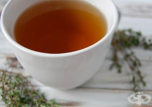 Консумирайте чай от мащерка и лимон против възпалени сливици - изображение