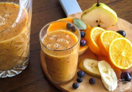 Консумирайте напитка от круша и портокал срещу разширени вени - изображение