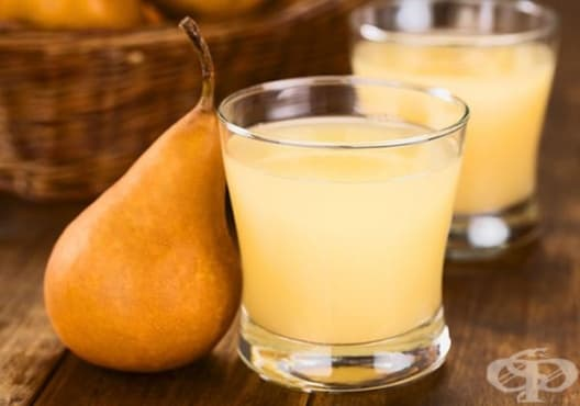Консумирайте напитка от круша, портокал и ленено семе против запек - изображение