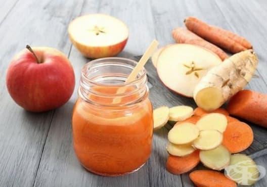 Консумирайте напитка от ябълка, морков и джинджифил против атеросклероза - изображение