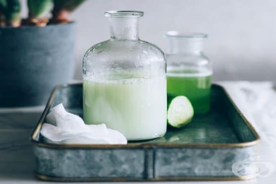 Направете си лосион за лице с охлаждащ ефект от краставица, кокосово мляко и алое вера - изображение