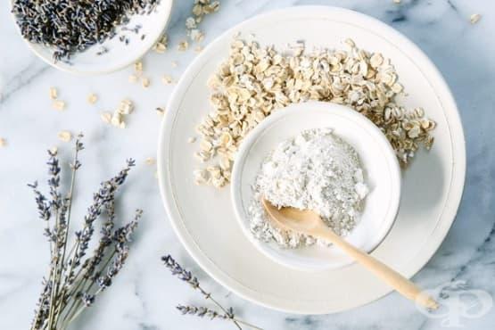 Почистете лицето с овесени ядки, глина и лавандула - изображение