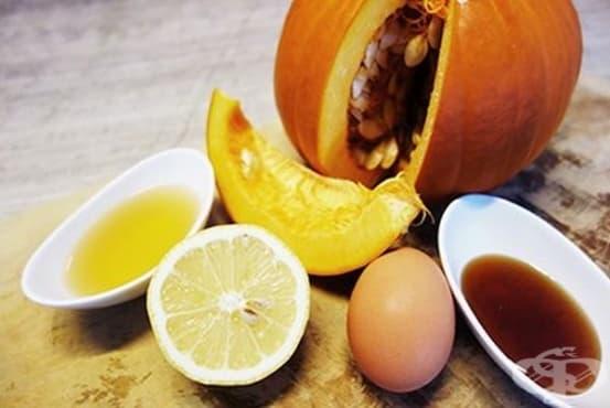 Направете си детоксикираща маска от тиква, яйце, мед и оцет      - изображение