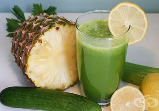Намалете пикочната киселина с напитка от грейпфрут, ананас и краставица - изображение